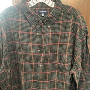 Grey and  Red Croft and Barrow Flannel Shirt XXL